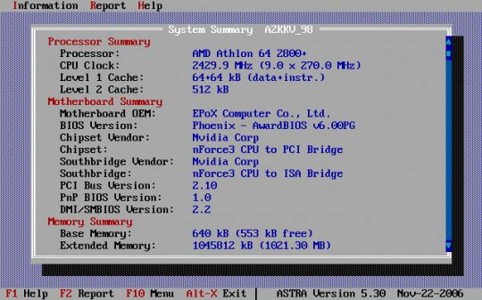 ASTRA - Advanced Sysinfo Tool Screenshot