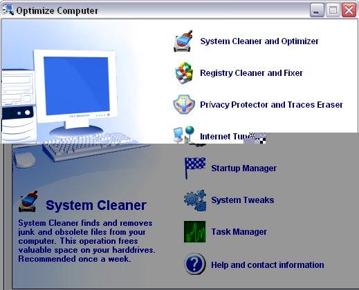 Optimize Computer Screenshot