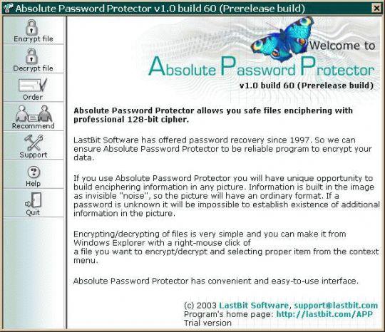 Absolute Password Protector Screenshot
