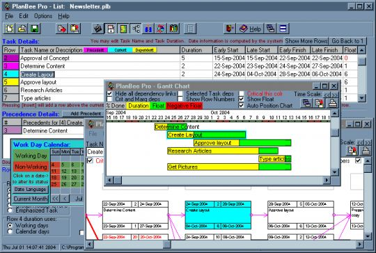 PlanBee Project Management Planning Tool Screenshot