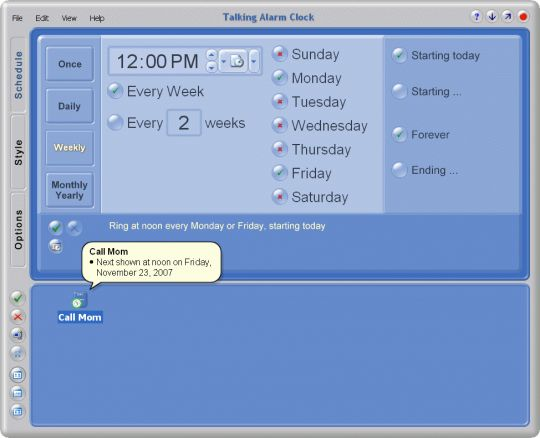 Talking Alarm Clock Screenshot