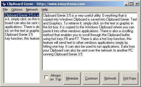 Clipboard Genie Screenshot