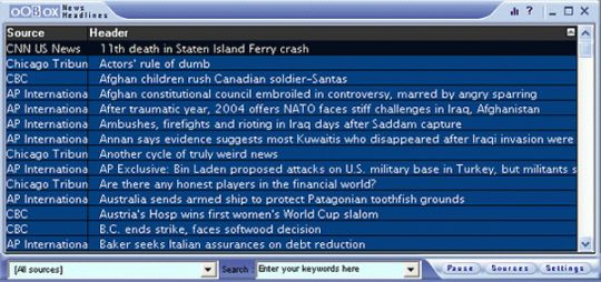 OOBOX News Headlines Screenshot