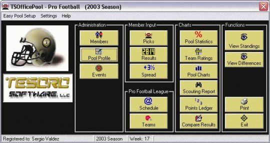 TSOfficePool - Pro Football Screenshot