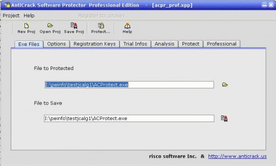 ACProtect standard Screenshot