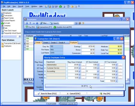 PayWindow Payroll System Screenshot