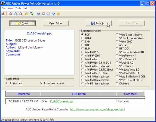 ABC Amber PowerPoint Converter Screenshot