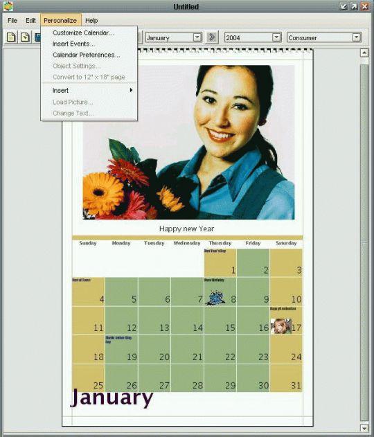 MyPhoto Calendars Screenshot