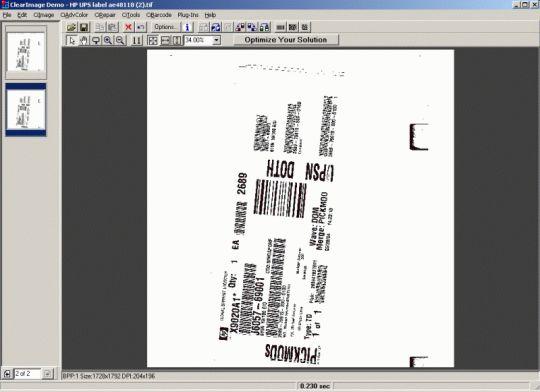 ClearImage PDF417 Screenshot