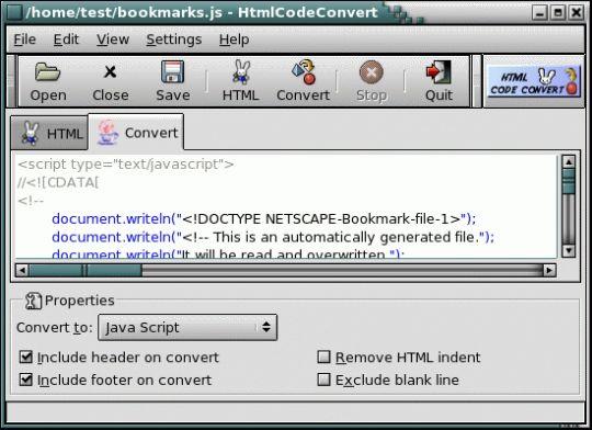 Html Code Convert Screenshot