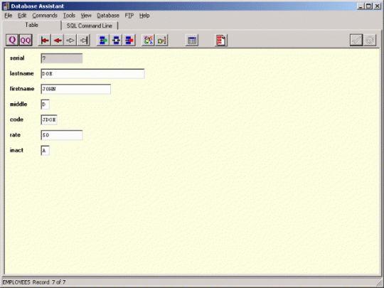 Database Assistant Screenshot