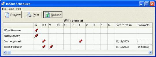 CyberMatrix In Out Scheduler Screenshot