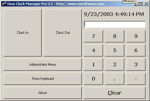 Time Clock Manager Pro Screenshot