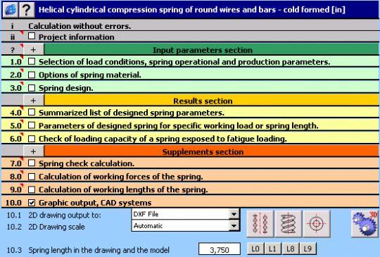 MITCalc - Compression Springs Screenshot