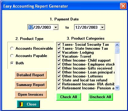 EasyAccounting Screenshot