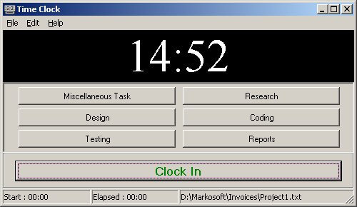 Time Clock Screenshot