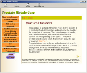 Prostate Miracle Cure Screenshot
