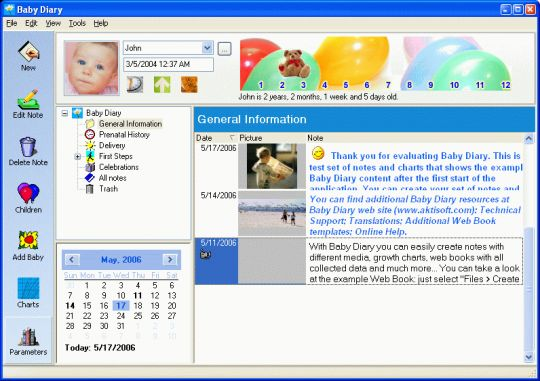 Baby Diary Screenshot