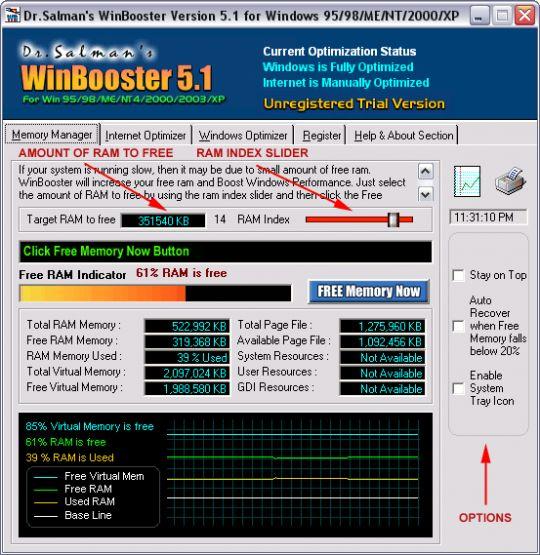Dr.Salman's WinBooster Screenshot