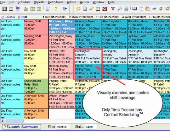 Time Tracker Employee Scheduling Screenshot