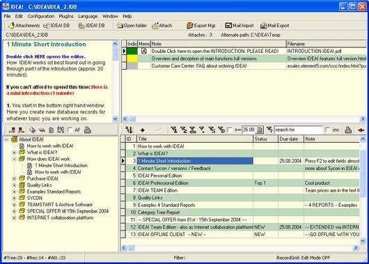 IDEA! Free Edition Screenshot