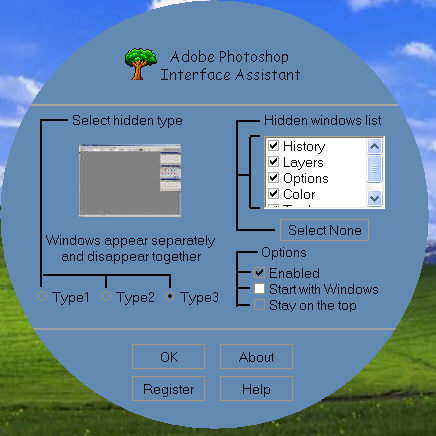 Photoshop Interface Assistant Screenshot