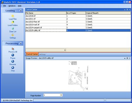 Batch TIFF Resizer Screenshot