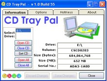 CD Tray Pal Screenshot