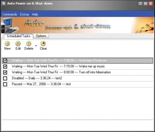 Auto Power-on & Shut-down Screenshot
