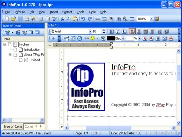 InfoPro Screenshot
