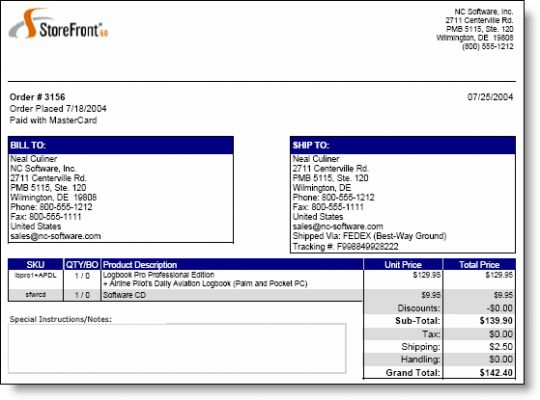 quikSlip for StoreFront 6 Screenshot