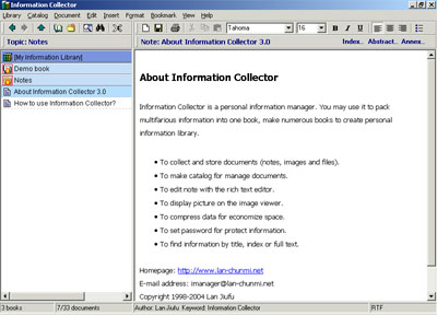 Information Collector Screenshot