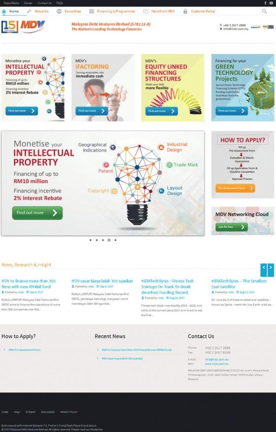 Malaysia Debt Ventures Berhad (MDV) Screenshot
