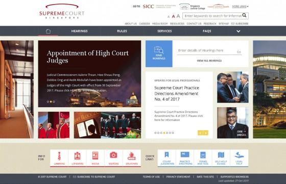 Supreme Court of Singapore Screenshot