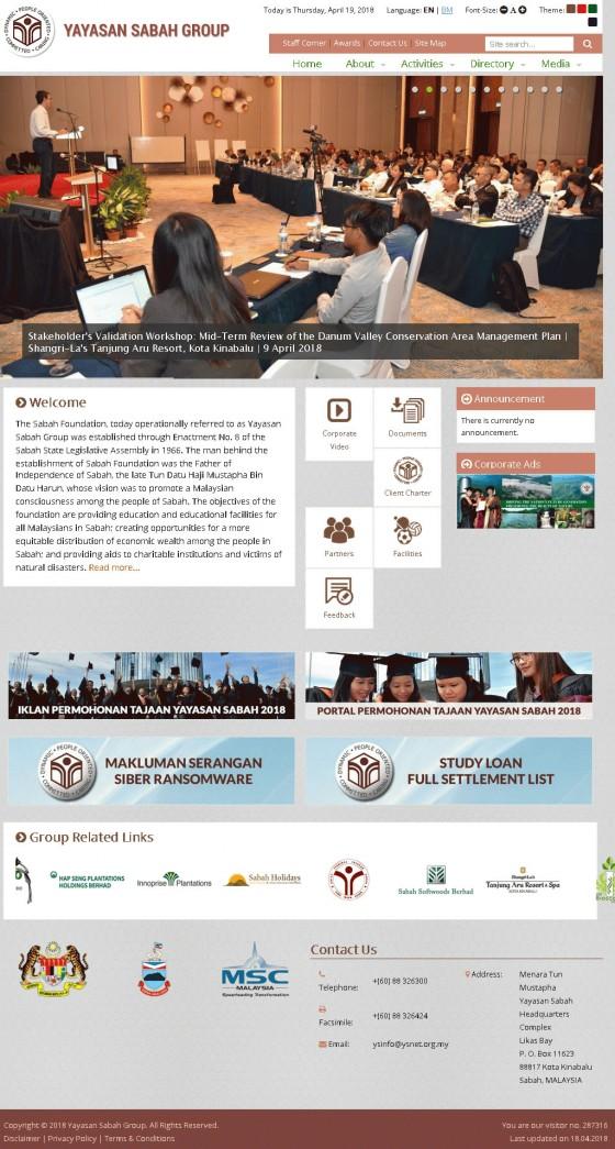 Yayasan Sabah Group Screenshot