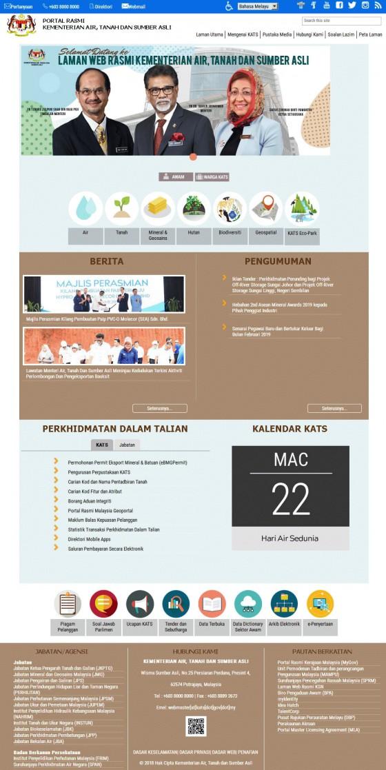 Kementerian Air, Tanah dan Sumber Asli (KATS) Screenshot