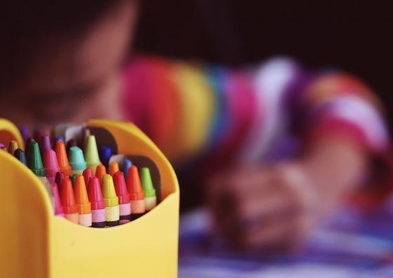 Crayons Reusable Storage Box
