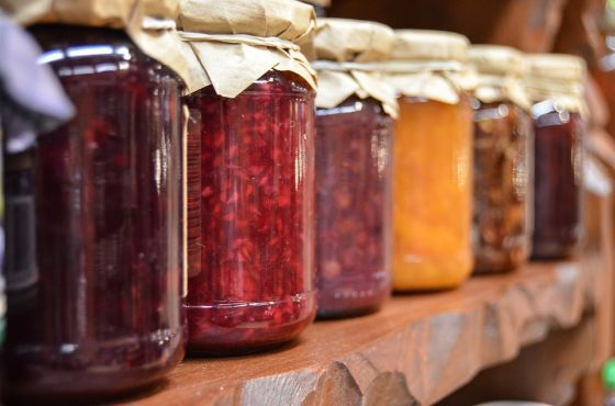 Reusing Glass Jars to Store Food