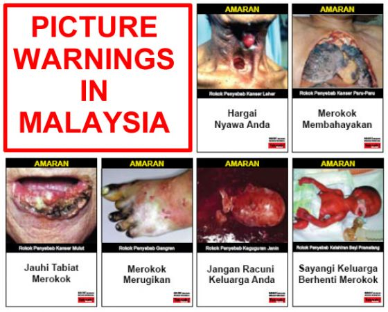 Cigarettes Pack Picture Warnings in Malaysia