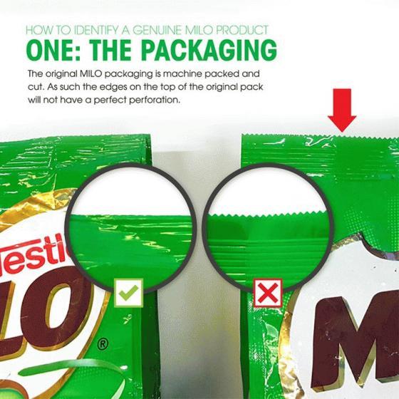 Genuine MILO Packaging